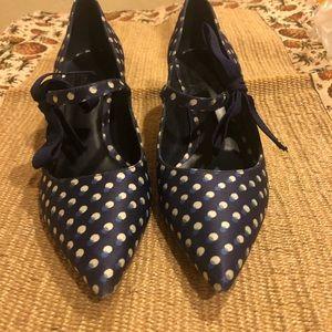 Tory Burch polka dot heels